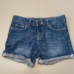 Girls dark denim shorts by George Size: 7